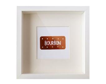 Copper Bourbon Biscuit Foil Print / Metallic Print - Cookie Print - Embossed Print