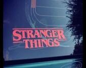 Stranger Things Vinyl Decal