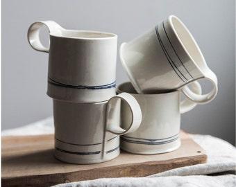 Hand Built Porcelain Espresso Mugs