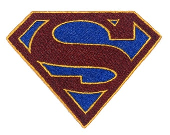 Supergirl inspired embroidery icon patch for your DIY needs, applique, original artwork