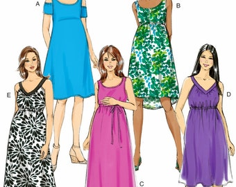 Maternity Dress Pattern, Maternity Sundress Pattern, Easy Maternity Dress Pattern, Long Maternity Dress Pattern, Butterick Pattern 6068