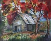 Old sugar shack-- art print