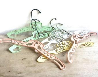 Vintage Childs Hangers, Plastic Nursery Hangers, Baby Clothes Hangers