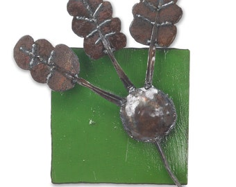 Metal Wall Tile Vegetable Art Beet