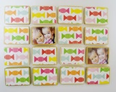Personalized Memory Game-Candy Toy-Girls Stocking Stuffer-by burlap and blue