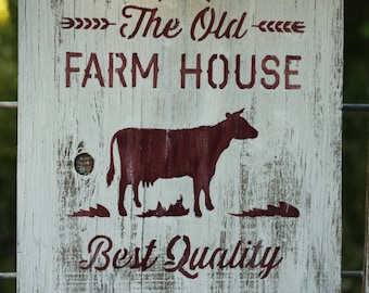 Hand Painted Country Farmhouse Wood Sign