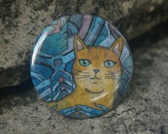 "ALIENS Ripley's Cat Jonsey Art 2.25"" Button Pin Badge"
