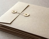 Wedding Invitation Envelopes Measuring 130mm x 190mm (5.11 x 7.48 inches) in Brown Kraft - Pack of 10