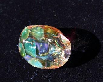 Beetlewing Handblown Glass Bead