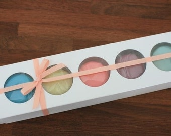 10 macaron window sleeve cases in white (5hd type)