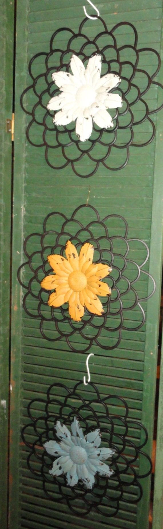 Garden Sunflower Wall Decor : Sunflower metal wall decor shabby and chic distressed