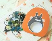Orange Ver 2 Totoro cartoon Sticker Flakes