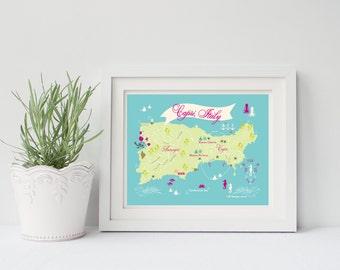 Isle of Capri, Italy - 8x10 or 11x14 Art Print