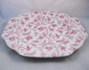 Red Spode Pattern # SP630 Dinner Plate Chintz Red Roses & Flowers 9-1/2""