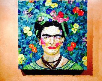 Flowers for Frida Mosaic Art, Frida Kahlo