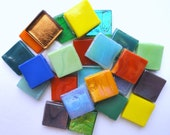 ON SALE 1/2 in. Color Mix Glass Tiles// Mosaic Supplies// Crafts/Mosaic//Mosaic Pieces