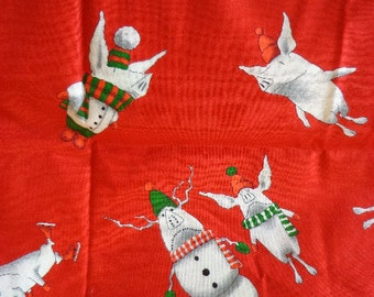 Olivia the Pig Christmas Fabric by Andover Fabrics
