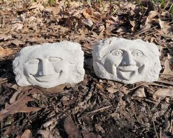 Cement Faces   Etsy