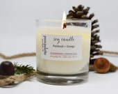 Patchouli Orange Soy Candle - Certified Essential Oil / Aromatherapy - Men Candle in Tumbler Glass Jar with Kraft Gift Box