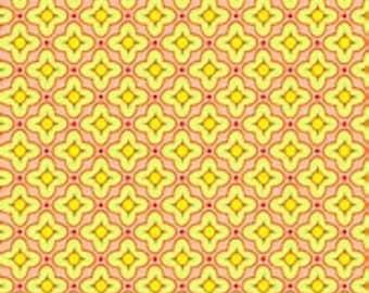 """Heather Bailey Pop Garden Tiled Primrose Fabric 25"""""""