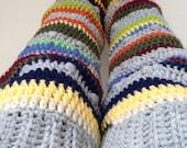 Crochet Thigh High Leg Warmers, Adult Women Ragga Leg Warmers, Colourful Slouchy Sexy Legwarmers, Women Clothing and Winter Accessories