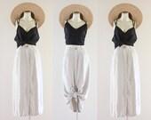 linen button down midi skirt