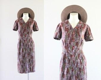 S A L E woven paisley dress
