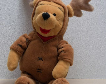 Vintage 9 inch Winne the Pooh dress as a Reindeer