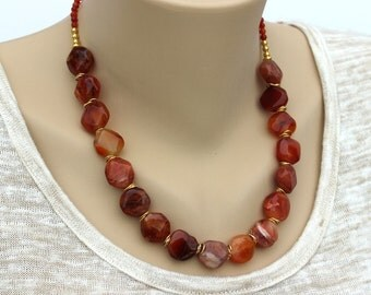 Agate Necklace for Mom