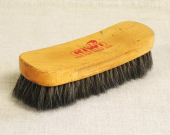Vintage Kiwi Shoe Brush, Horse Hair, Shoe Care, Brushes, Footwear Care, Large, Natural Fiber, Cleaning Supplies, Boot Care