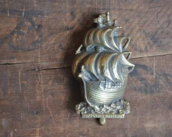 Vintage Authentic Original Brass Ship Door Knocker