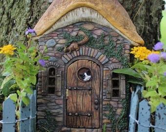 Kittens Corner Fairy Door for the Fairy Garden