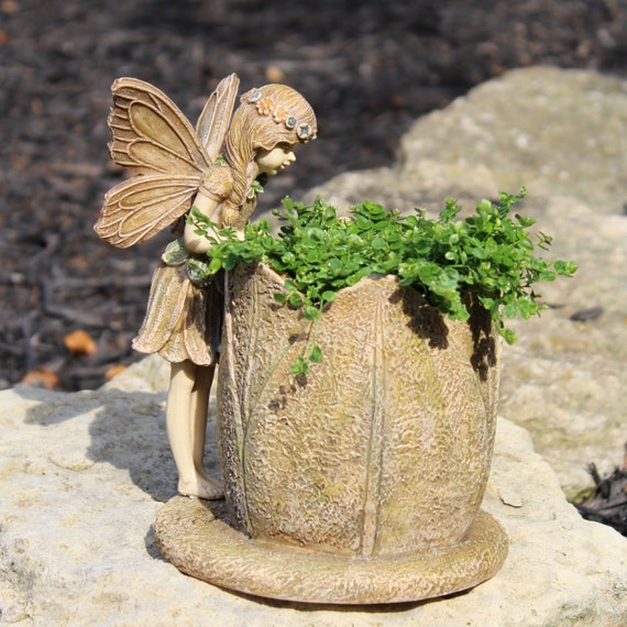 "Fairy Flower 8"" Planter for the Window, Patio or Fairy Garden"