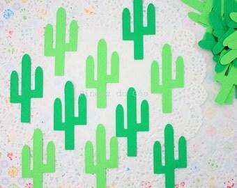 100 Cactus Confetti - Paper Confetti - Dark and Light Green Confetti - Party Confetti - Snail Mail - Die Cut - Made to Order