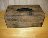 Primitive Tissue Box Cover - Kleenex Style - Made to Order - Color Choice