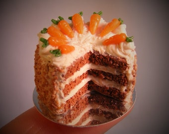 12th Scale Doll House Carrot Cake