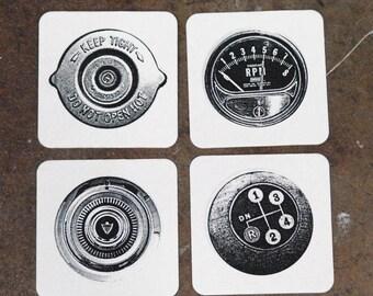 Driving - Screenprint Coasters