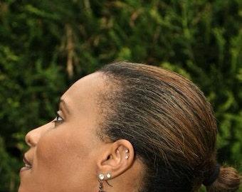 Wooden reversible  earrings.