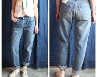 Vintage Levi's Jeans / Original 1960's 605 Men's Levi's / 30x33 / Boyfriend Jeans / Medium Wash Denim / Orange Tab Levi's / Mid rise Jeans