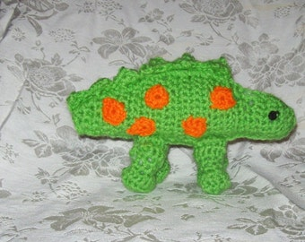 Spotted Dinosaur Crochet Toy dinosaur Kids Stuffed  Toy Dinosaur