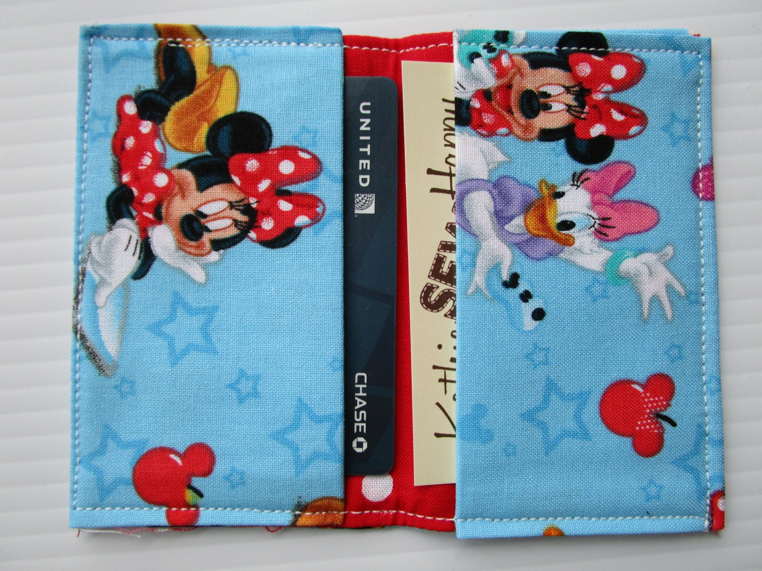 Minnie Mouse, Daffy Duck and Mickey Mouse Wallet, Disney Pass Holder ...
