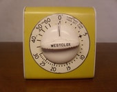RESERVED For Patoq  Vintage 1950's/1960's  Westclox Kitchen Timer