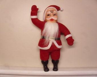 Vintage 1950's/1960's  Flocked Santa Claus