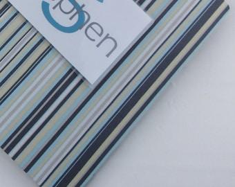 Boy Baby Photo Album, Personalized Photo Album, Blue Gray striped Photo Book, Picture album 4x6 photo album 5x7