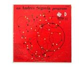 """Erik Nitsche record album design, 1952. """"An Andrés Segovia Program"""" LP"""