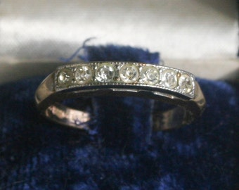 Vintage Uncas Gold Filled and Sterling Ring Sz 7