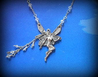 Fairy Angel Necklace, Pendant Silver