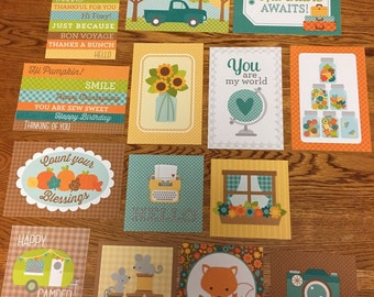 Doodlebug FLEA MARKET project life cards - set of 14
