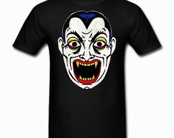 Dracula Vampire Vintage Halloween Mask kids T