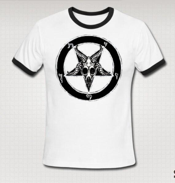 Team Satan Baphomet Ringer Tee Shirt